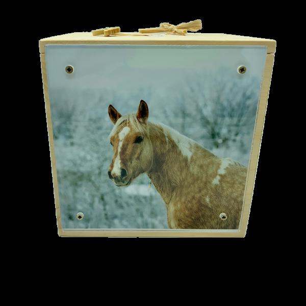 Holzurne Branka für Pferde